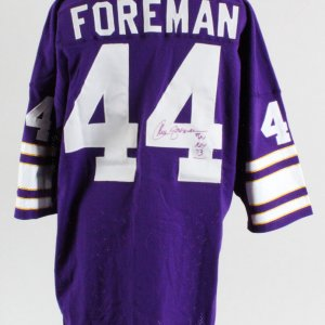 Chuck Foreman Minnesota Vikings Signed Twice Authentic Jersey – COA JSA