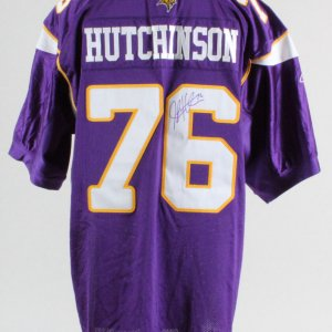 Steve Hutchinson Minnesota Vikings Signed Authentic Jersey – COA JSA