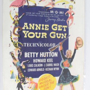 Annie Get Your Gun One Sheet Movie Poster 56/232