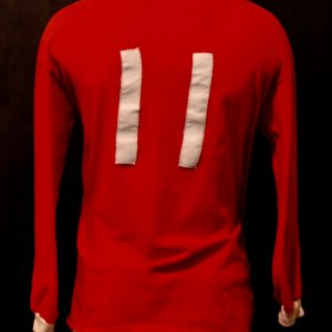 A George Best Game-Used #11 Manchester United FC Home Shirt & Shorts.  Circa 1960's.
