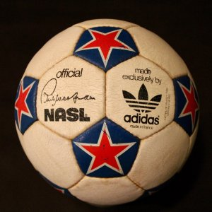 A New York Cosmos Game-Used NASL Match Ball.  1970's.