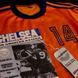 A Johan Cruyff Game-Used Los Angeles Aztecs Practice Jersey.  1979 NASL.  Extras.