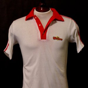 A Gerd Mueller Game-Used Ft. Lauderdale Strikers Team Polo Shirt.  Circa 1980.