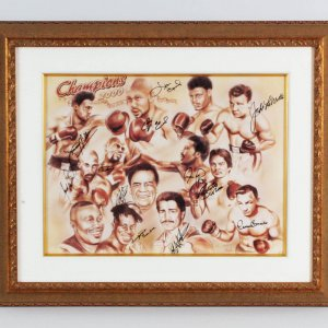 Legends of Boxing Signed Champions Litho LE 73/75 - COA JSA