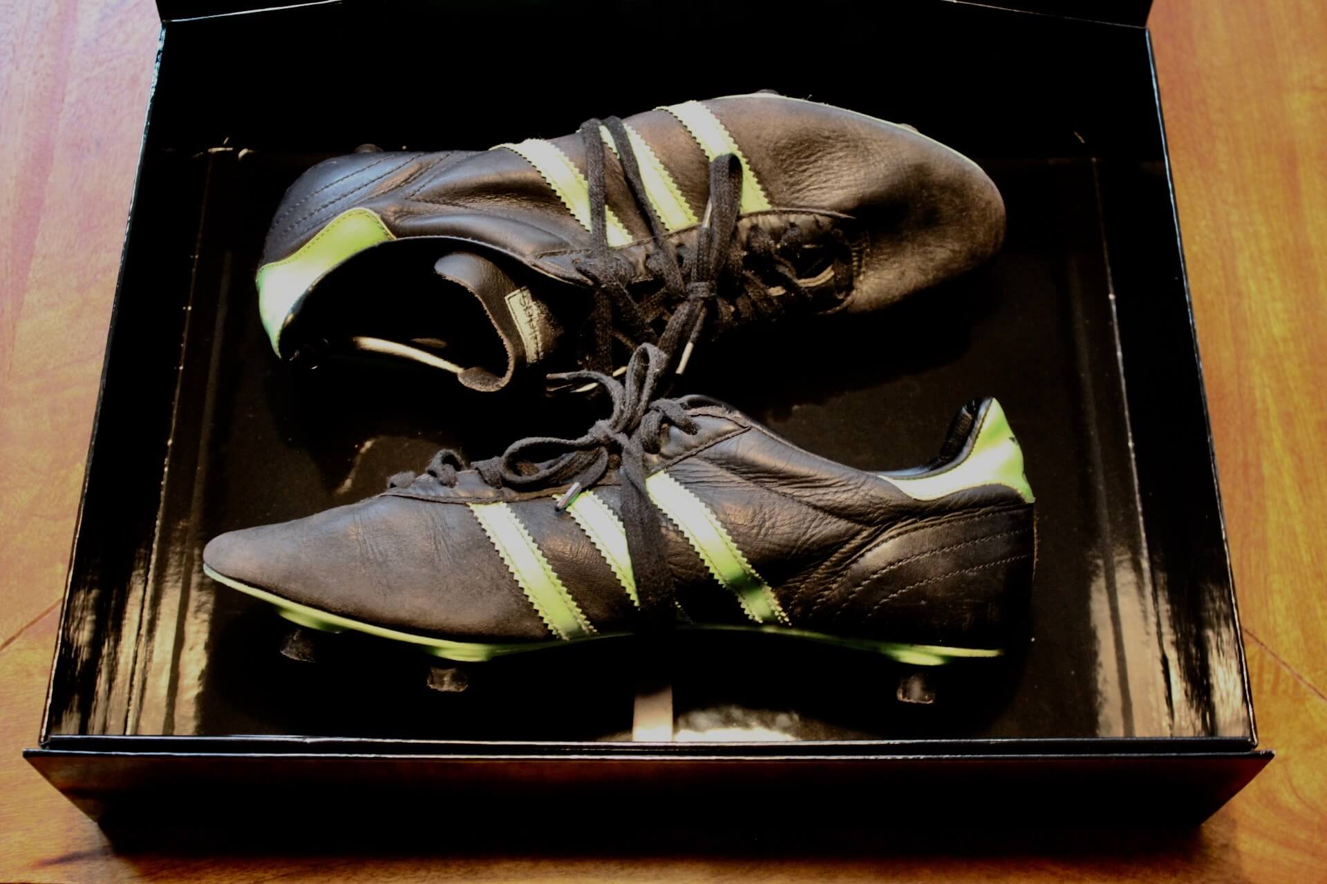 A Pair of George Best (Northern Ireland) Game-Used Adidas Soccer Shoes.  Circa 1970's.