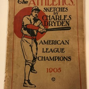 1905 Philadelphia Athletics American League Champions Yearbook