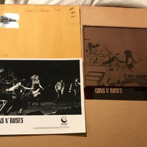 "Guns N' Roses Record Company Concert ORIGINAL 8x10"" B/W Promo Photo Production NEGATIVE"