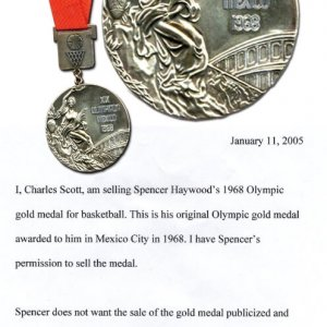 Spencer Haywood's 1968 Olympic Gold Medal (Basketball)