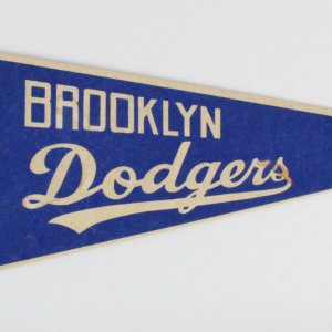 1950's Vintage Brooklyn Dodgers Ebbets Field Bum Pennant