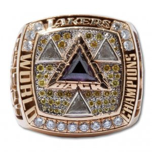 2002 Lakers NBA Championship Ring -Walker