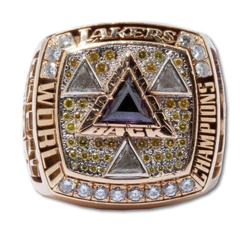 2002 Lakers NBA Championship Ring -Walker