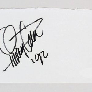 Quincy Jones Signed 4x6 Vintage Album Page - COA JSA