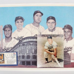 Brooklyn Dodgers Roy Campanella & Duke Snider Signed Lot - JSA