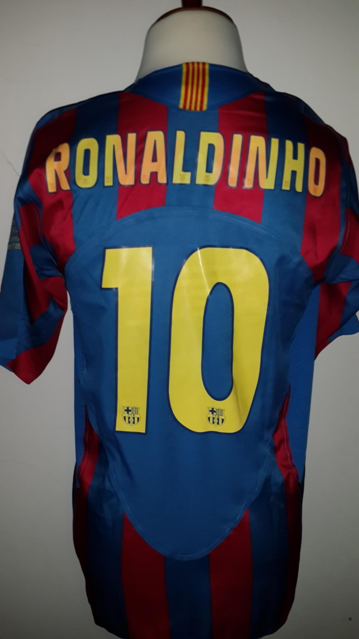 ccbfa14dc A Ronaldinho Game-Used  10 FC Barcelona Home Shirt UEFA Champions League  Final Match 2006 FC Barcelna vs Arsenal FC (2-1) Wednesday May 17th