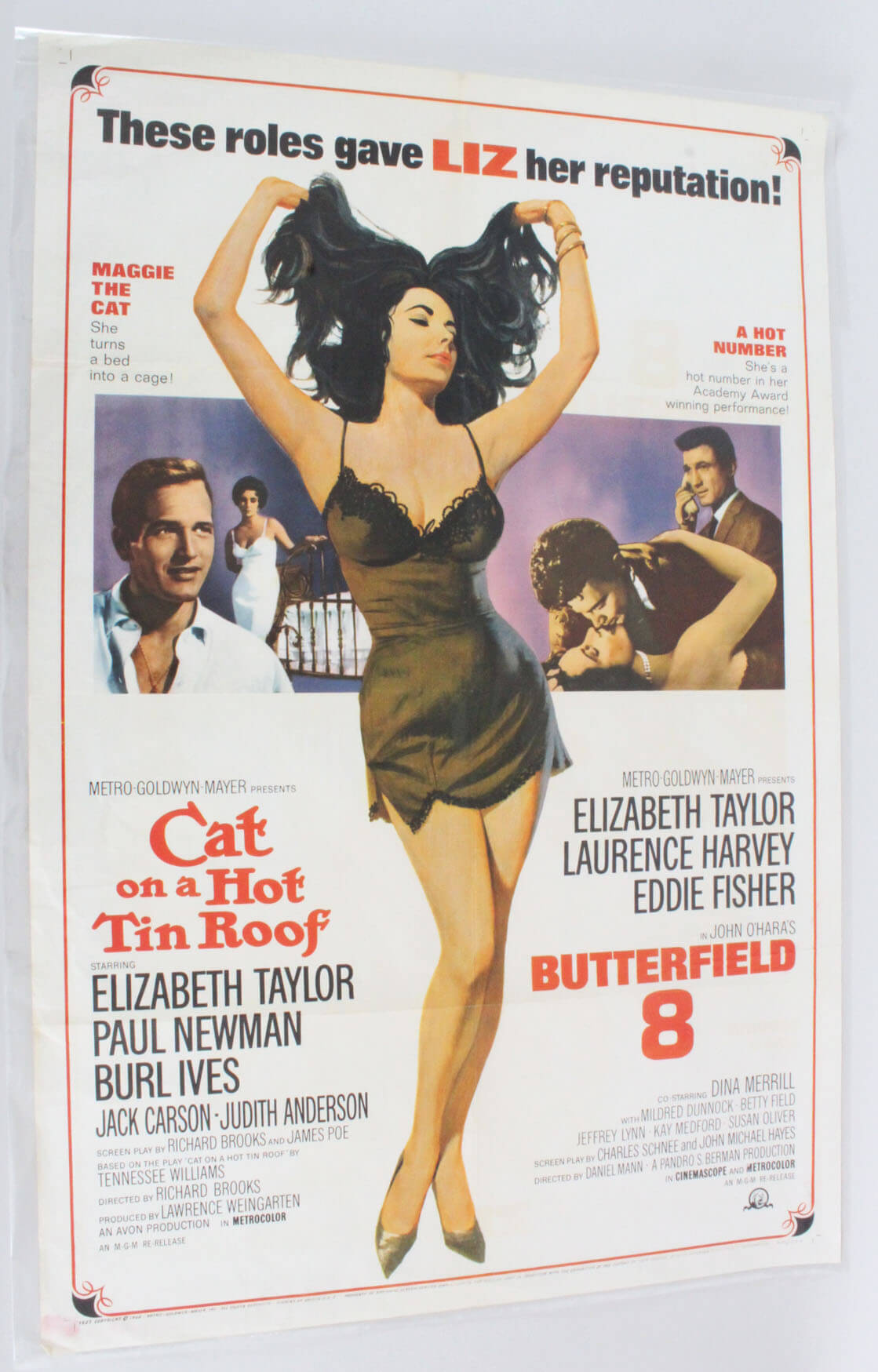 Cat on a Hot Tin Roof One Sheet Movie Poster R66/294