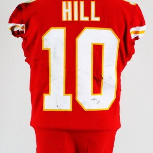 Tyreek Hill Game-Worn Kansas City Chiefs Jersey September 16, 2017 vs. Philadelphia Eagles COA 100% Team Grade: 19/20