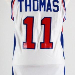 Early 1980's Isaiah Thomas Game-Worn Detroit Pistons Jersey Grade 14/20 -COA 100% Authentic Team