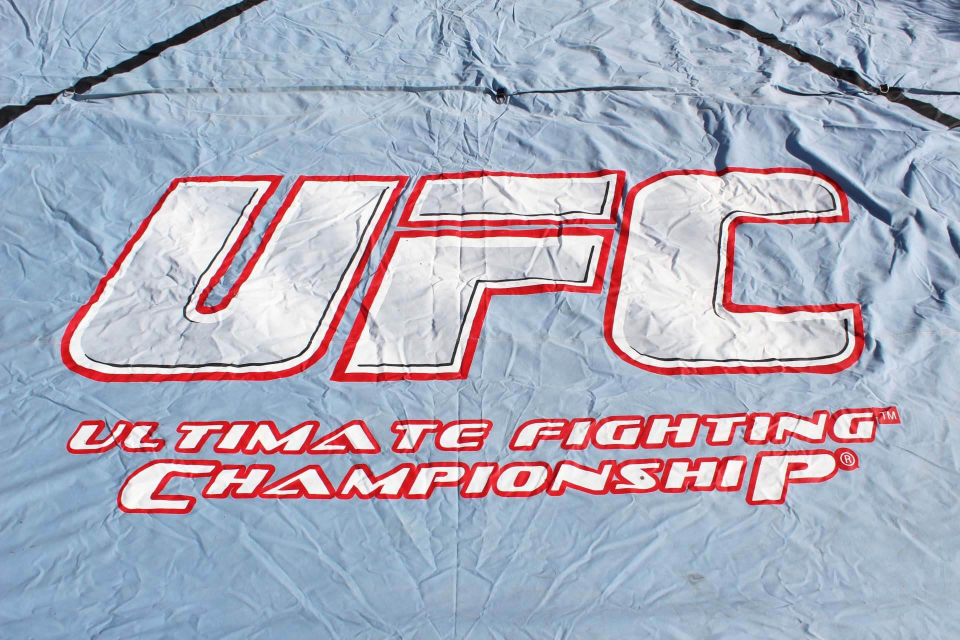 Historic UFC Octagon Fighting Canvas from Season 1 of The Ultimate Fighter (TUF) Reality Show- Big John McCarthy