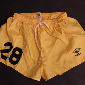 A Pair of #28 (Borja) New York Cosmos Game-Used Shorts.  1970's / 1980's.