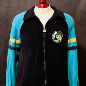 A New York Cosmos Game-Used Ellesse Squad Warm-Up Jacket (Durgan #4).  1980's.