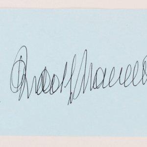 """Rudolf Nureyev Signed Vintage Album Page Ballet Dancer -  4"""" x 5.5"""" COA JSA"""