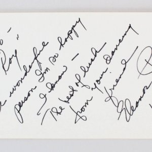 Eleanor Powell Signed Vintage Album Page - 4x6 COA JSA