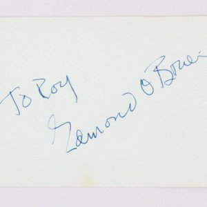 Edmond O'Brien & Jan Kiepura Signed Vintage Album Page - 4x6 COA JSA