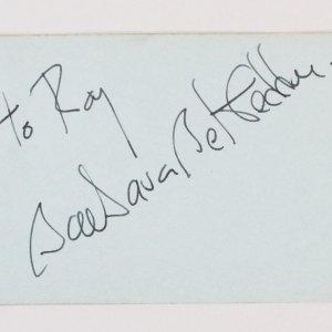 Barbara Bel Geddes Signed Vintage Album Page 3x5 - COA JSA