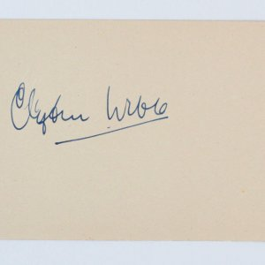 Clifton Webb & Nadine Tallier Signed Vintage Album Page - 4x6 COA JSA