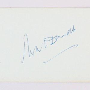 Robert Donat & Ken Darby Signed Vintage Album Page 4x6 - COA JSA