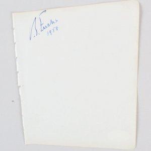 Sir Vivian Fuchs Signed Vintage Album Page - 5x6 COA JSA
