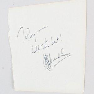Raymond Chandler Signed Vintage Album Page 5x6 - COA JSA