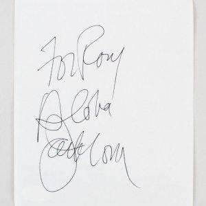 "Jack Lord Signed Vintage Album Page 5.5"" x 6.5"" - COA JSA"