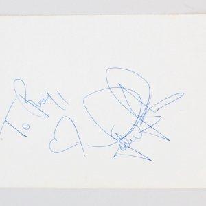 "Jodie Foster Signed Vintage Album Page 5.25"" x 7.75""- COA JSA"