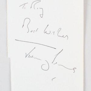 "Jeremy Irons Signed Vintage Album Page 5"" x 7.75""  - COA JSA"