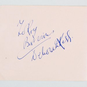"Deborah Kerr & James Donald Signed Vintage Album Page 5.25"" x 6.5"" - COA JSA"
