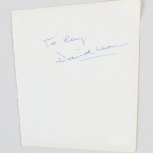 David Lean & Graham Greene Signed Vintage Album Page 5x6 - COA JSA