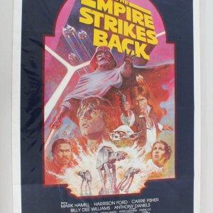 The Empire Strikes Back (1980) ORIGINAL MOVIE POSTER - RE-RELEASE 1982
