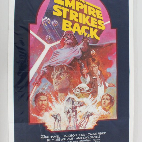 The Empire Strikes Back (1980) ORIGINAL MOVIE POSTER - RE-RELEASE 1982