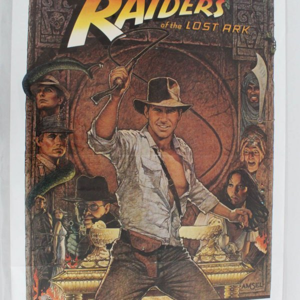 RAIDERS OF THE LOST ARK (1981) ORIGINAL MOVIE POSTER - RE-RELEASE 1982