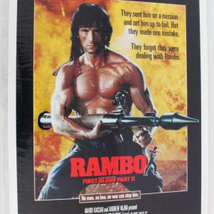 RAMBO FIRST BLOOD PART II 1sh Movie Poster1985