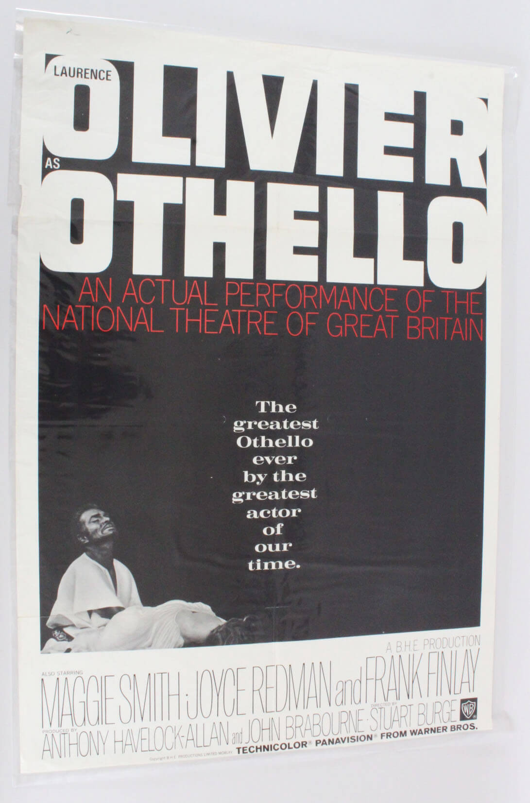OTHELLO 1sh Movie Poster '66 Laurence Olivier