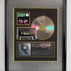 Public Enemy 1991 Platinum Sales Award RIAA