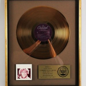 "Anne Murray 1978 Gold Record ""Let's Keep It That Way"" RIAA Award"