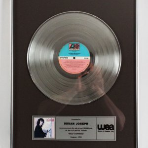 "Laura Branigan 1984 Platinum Record ""Self Control"""
