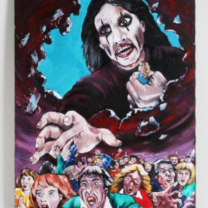Alice Cooper Oil Painting on Canvas Artwork 18x24 by Stephanie Hart