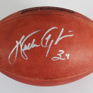 Walter Payton Chicago Bears Signed Football - COA Steiner