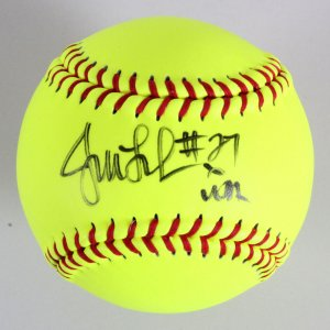 Jennie Finch Signed Mizuno Softball Olympic - COA