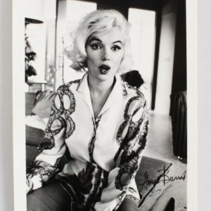 Marilyn Monroe Photo Signed George Barris 5x7 1962-Surprised Look
