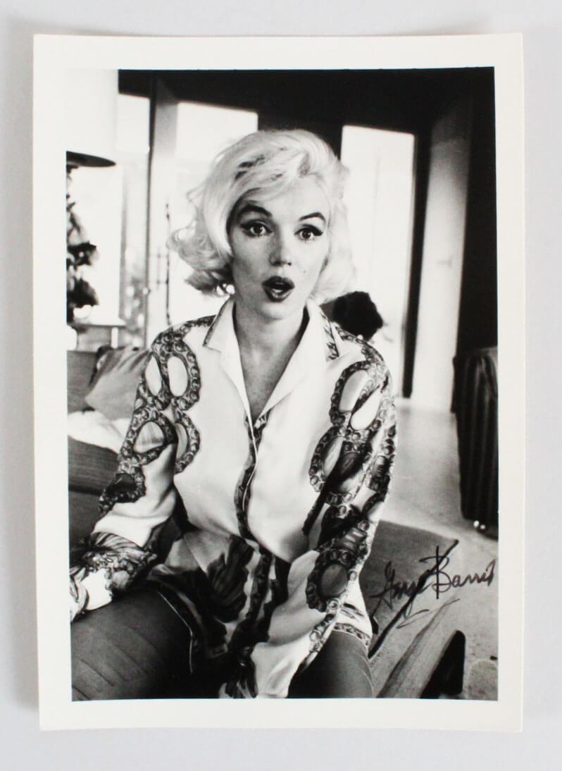 Marilyn Monroe Photo Signed George Barris 5x7 1962-Surprised Look